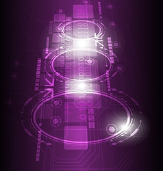 Digital future technology background vector