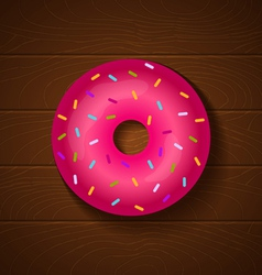 donut full pink vector image vector image