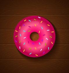 donut full pink vector image