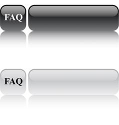 FAQ square button vector image vector image