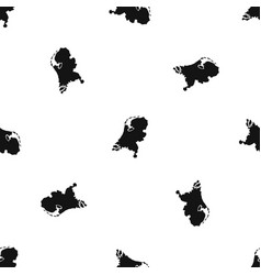 holland map pattern seamless black vector image vector image