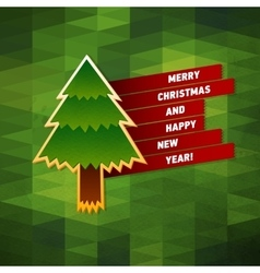 Merry christmas greeting card creative holiday vector