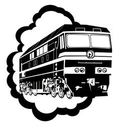 Modern locomotive vector image vector image