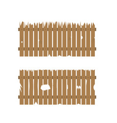 old wooden fence vector image