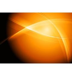 Orange wave background vector image vector image