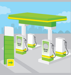 Petrol gas station background decorate design cart vector