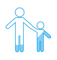 pictogram man and kid ico vector image