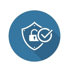 Security Status Icon Flat Design vector image