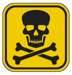 skull danger sign-warning sign vector image