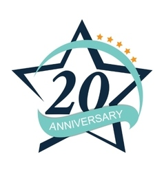 Template logo 20 anniversary vector