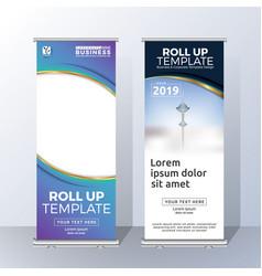 Vertical roll up banner template design vector