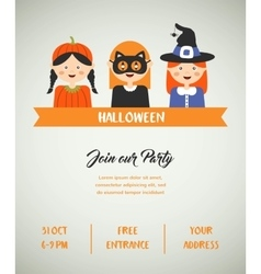 Happy halloween party invitation with cute vector