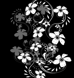 Dark abstract floral background vector