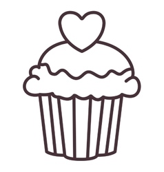 Isolated muffin silhouette design vector