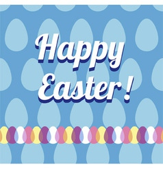 Happy easter card and seamless pattern vector