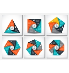 geometris elements for infographic vector image