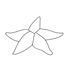 Seastar icon in outline style isolated on white vector