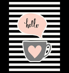 cute cup poster design vector image