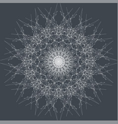 Fractal element with connected line and dots vector