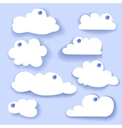 Paper speech bubble cloud sticker vector