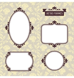 Vintage background photo frames vector