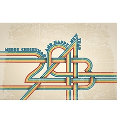 Retro new year card vector