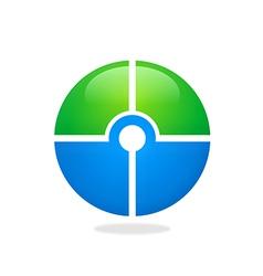 Target round circle green blue logo vector