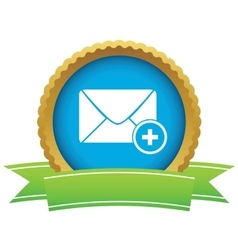 Add letter certificate icon vector