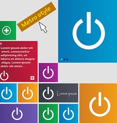 Power icon sign buttons modern interface website vector
