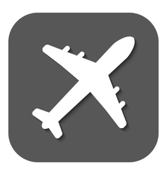 The plane icon travel symbol flat vector