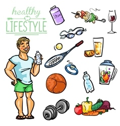 Healthy Lifestyle - Man vector image