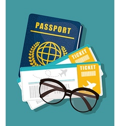Travel vacation design vector