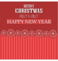 Merry christmas ribbon paper design greeting card vector
