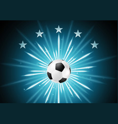 Abstract soccer background with ball and stars vector image