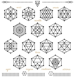 Set of geometric hipster shape1t53 vector