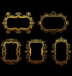 Vintage frames and borders set vector