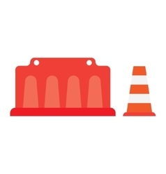 Road barrier cone vector