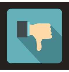 Thumb down gesture icon flat style vector
