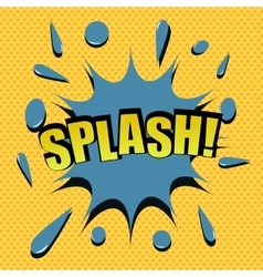 Comic cartoon splash vector