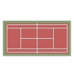 A field for Tennis vector image vector image