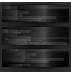 Abstract black rectangle shapes banner vector