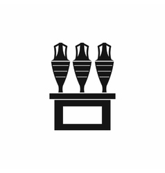 Antique jugs icon simple style vector image