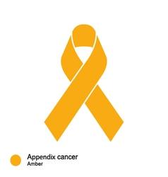 Appendix cancer ribbon vector