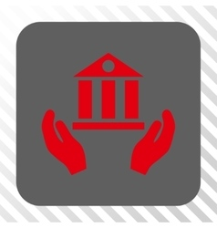 Bank Service Rounded Square Button vector image