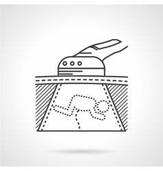 Black icon for ultrasound scan vector