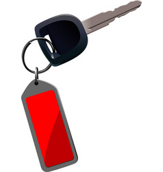 Car key with remote control isolated over white vector