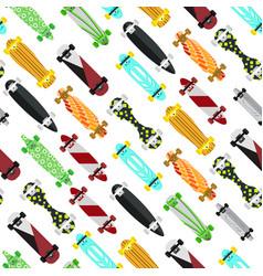 cartoon color skateboard background pattern vector image vector image