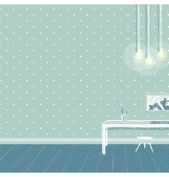 Children boys room in blue background design with vector image vector image