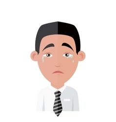 Emotion avatar man crying success vector