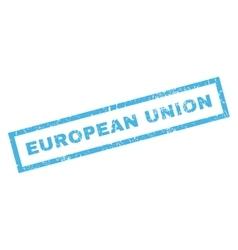 European union rubber stamp vector